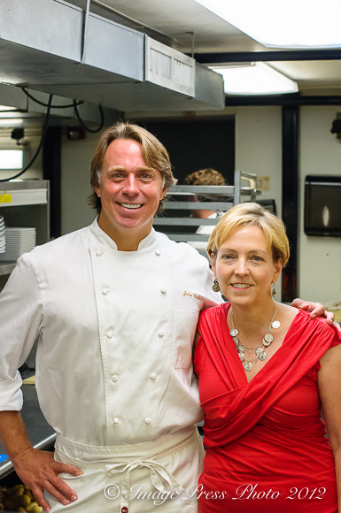 With Chef John Besh at Restaurant August, New Orleans