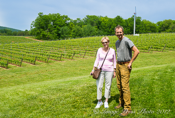 With Luca Paschina, the winemaker at Barboursville Vineyards in Charlottesville, VA