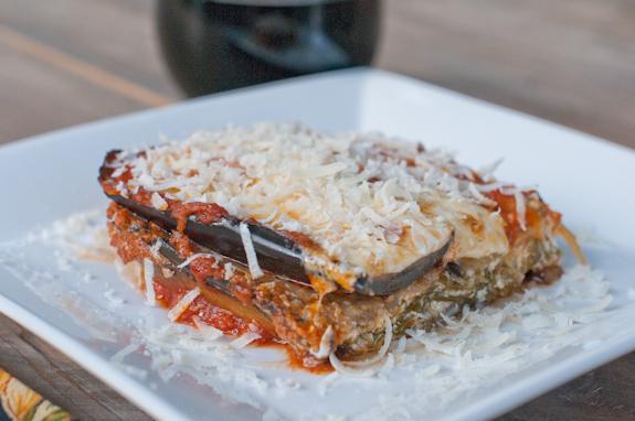 Eggplant Lasagna with a Kumato Salad