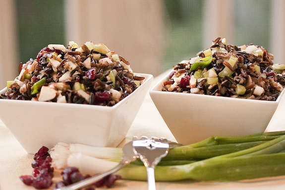 Crunchy Fruit and Wild Rice Salad