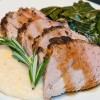 Roasemary Pork Tenderloin and Collards