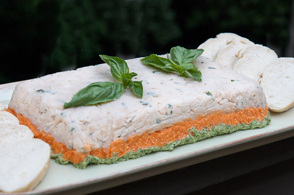 Tricolor Vegetable Pâté and Whole Wheat Bread for The Daring Cooks Challenge