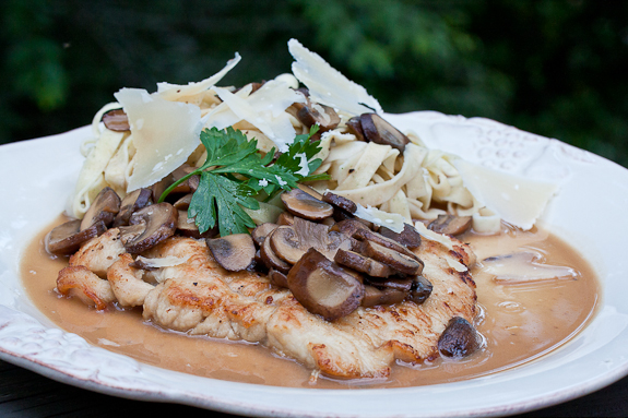 Turkey Cutlets with a Marsala and Mascarpone Sauce and a Minor Accident!