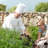 Bunky and Chef Trantham in the garden (1 of 1)