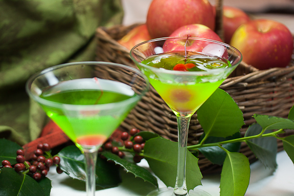 Green Appletini Cocktails
