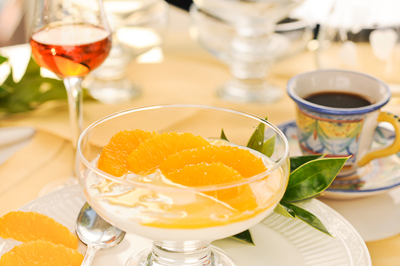 Yogurt Panna Cotta with Grand Marnier