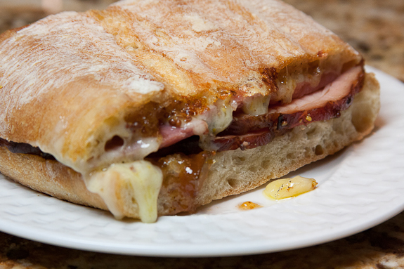 Baked Ham and Farmhouse Cheddar Paninis with Spicy Fig Jam – Bring on the New Year!