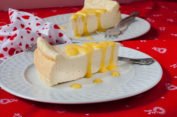 Italian Ricotta Cheesecake with Meyer Lemon Curd