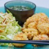 Panko Crusted Shrimp and Asian Slaw