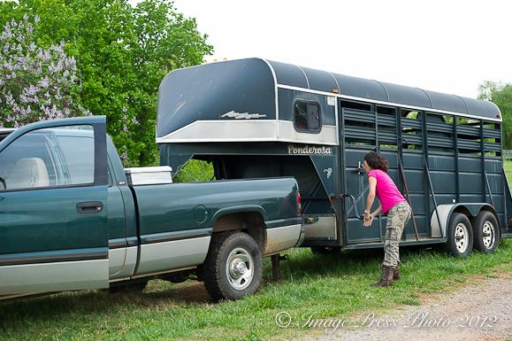 Allison loading trailer