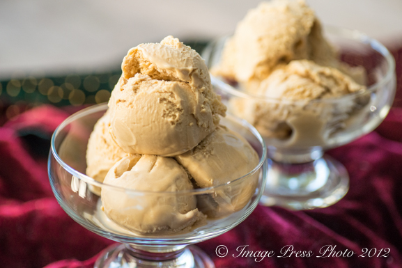 This ice cream tastes like caramel and bourbon