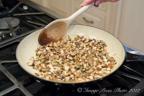 Saute the portobello mushrooms and then