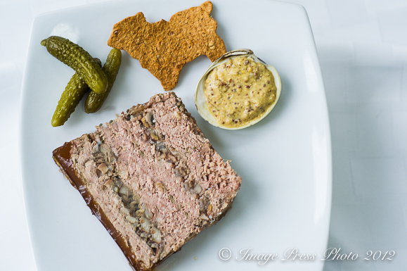 Rustic Lambs and Clams Pate with Lamb Crackers and mustard served in clam shells