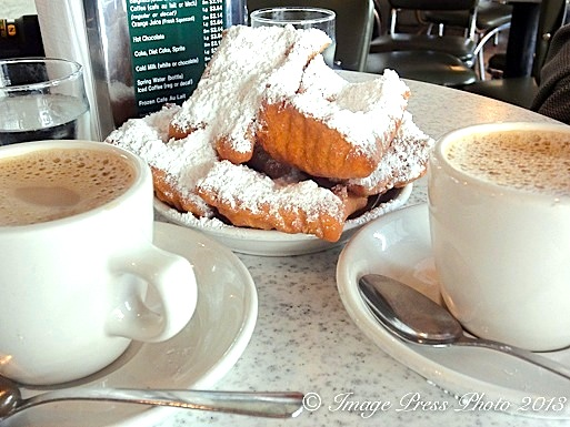 Beignets and chicory cafe au lait