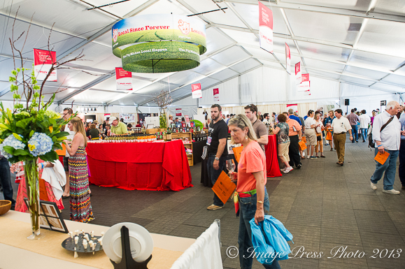 One of the tasting tents in the Culinary Village at the festival