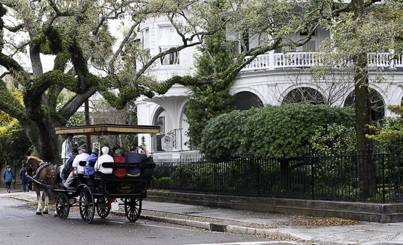 Horse drawn carriages add to the romance of the city