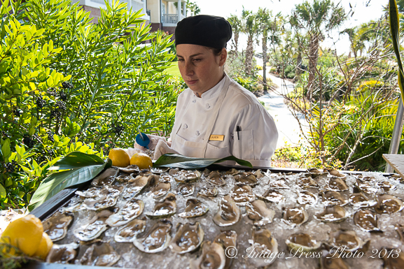 Raw oysters at Kiawah Island