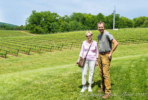 With winemaker Luca Paschina at Barboursville Vineyards