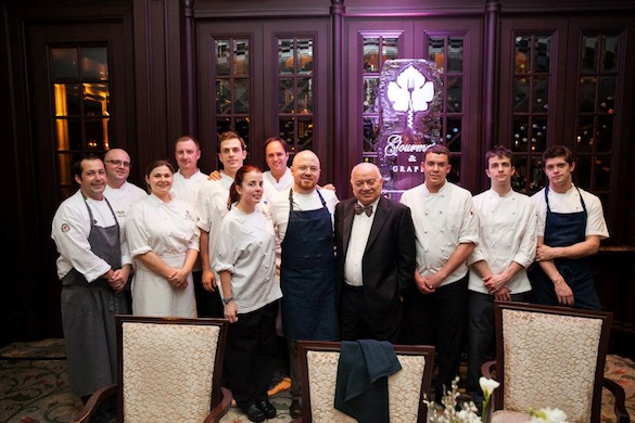 Chef Juston Bogle, Lionello Marchesi, and the culinary team for the black-tie dinner