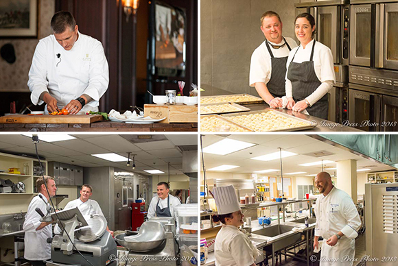 Celebrity and local guest chefs give of their time and talents for the weekend