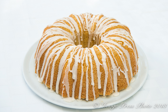Rum Cake soaked in a Myers rum simple syrup topped with a Rum Icing