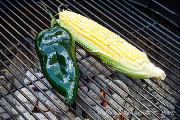 Roasted poblano peppers and fresh corn add texture and interesting flavor to the recipe