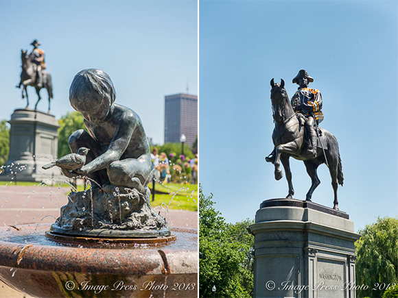 Even George had the Bruins spirit at the Public Garden