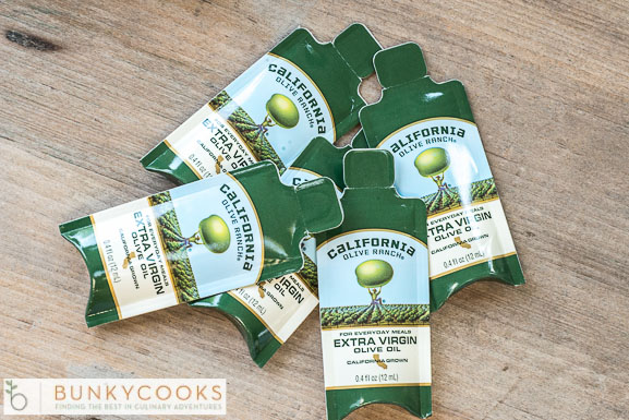 I love these mini packets of oil oil - perfect for travel and picnics this time of year