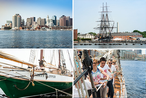 A schooner ride with beautiful views of the city from Boston Harbor