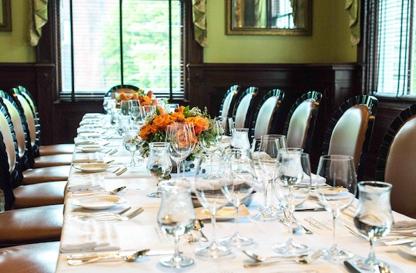 Our private dining room at Lemaire
