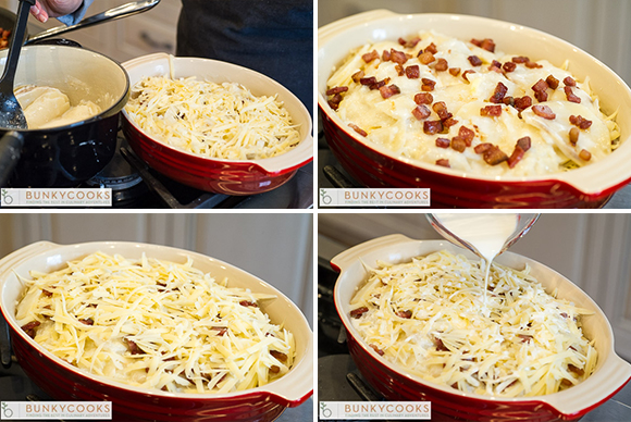 Layer all the ingredients in a casserole dish