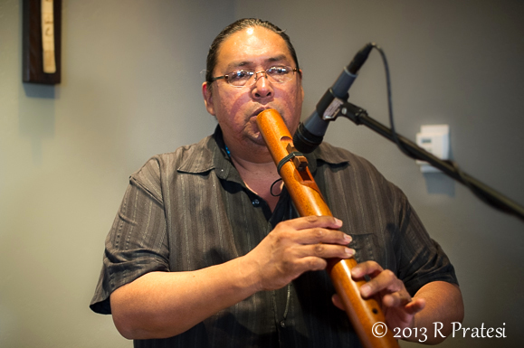 Traditional Native American music is played at dinner - Alan White, Flute Musician
