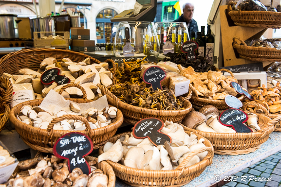 Gorgeous mushroom at the market in Basel