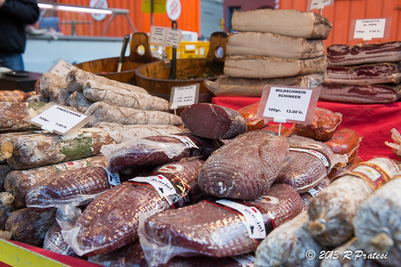 Cured meats at one of the outdoor markets