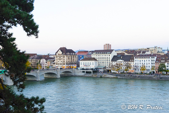 View of the Rhine River from Les Trois Rois