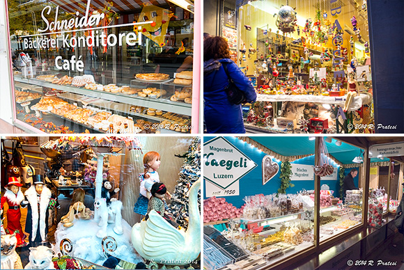 Window shopping is also a treat in Basel with displays of regional specialties and Christmas decorations