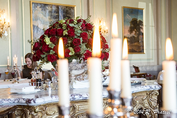 The dining room was as elegant as Chef Knog's dishes