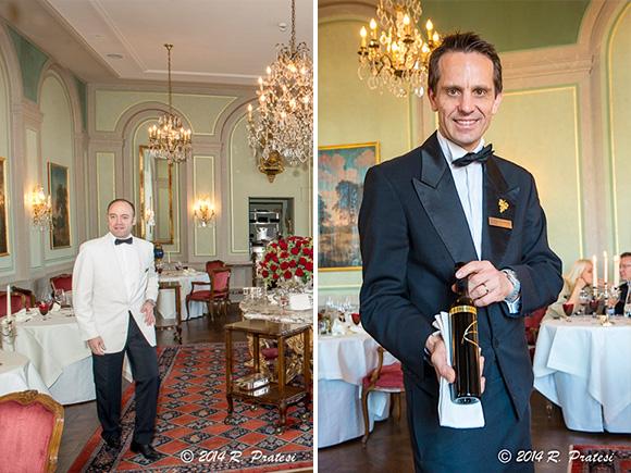 Maitre d'hôtel Grégory Rohmer and Sommelier Christoph Kokemoor,