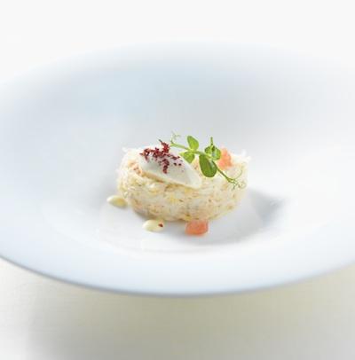 Crab with Yuzu Mayonnaise and Mustard Ice Cream