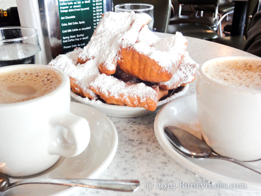 The first stop in New Orleans is usually at Café du Monde