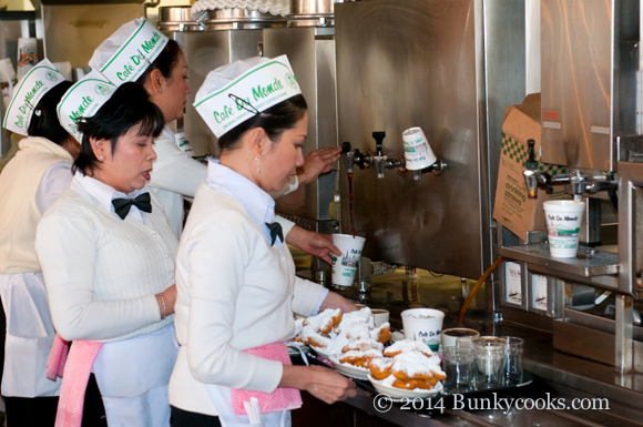 Serving up beignets and chicory coffee