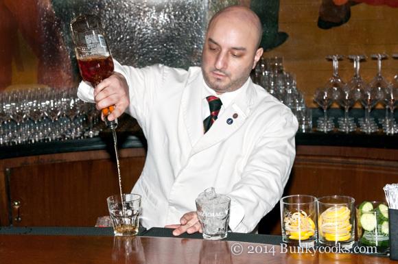 Russ Bergeron at the Sazerac Bar