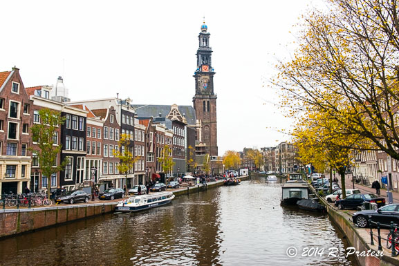 One of the over 160 canals in Amsterdam