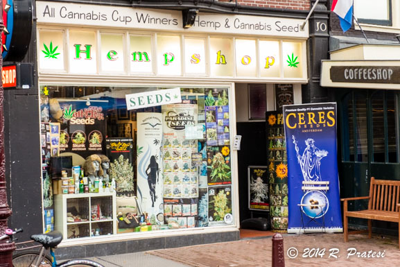 Hemp shops and coffee shops are plentiful in some parts of the city
