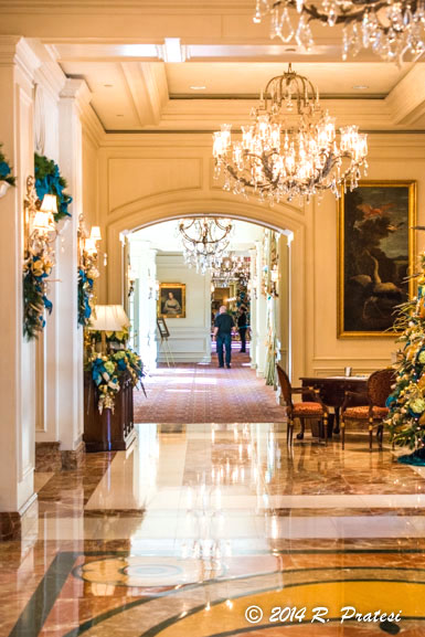 The lobby was decorated for Christmas during our visit