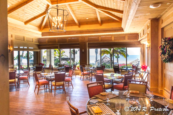 Dining room at The Beach Club Grill