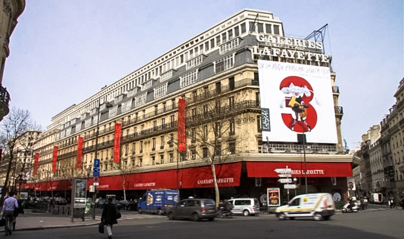 Exterior of Galeries Lafayette (Photo courtesy of the internet)