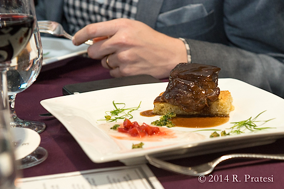Beef Short Rib with Pickled Strawberry Relish, Lavender-Cipolla Cornbread, Turnip Crema paired with Taylor Family Vineyards Reserve Cabernet Sauvignon 2009 (Chefs Greg Baker & Robert Grace)