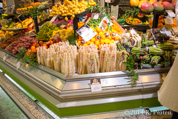 The produce was beautiful, especially the white asparagus
