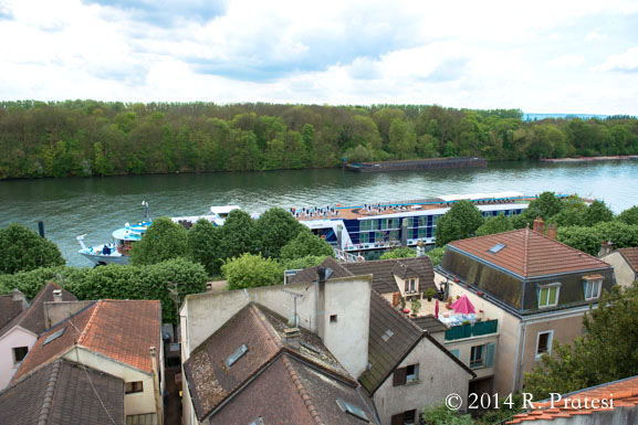 View of our ship from Conflans